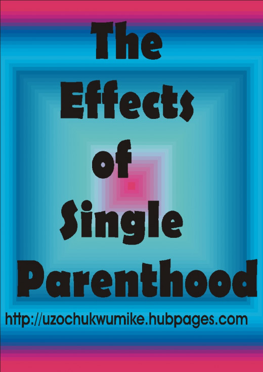 Effects of single parenthood (illustration)