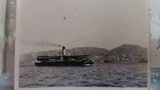 Kowloon to Hong Kong ferry, Hong Kong 1946