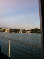 This is a view of the town on the Island of Vieques as seen from our ferry boat.