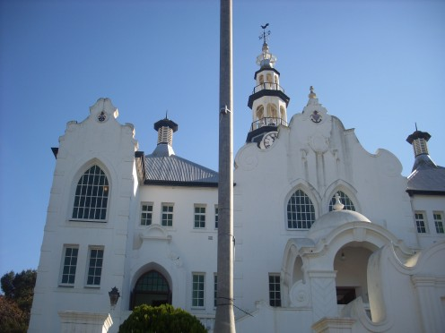 Cape Dutch architecture in Swellendam.