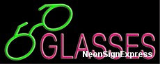 Glasses Neon Sign
