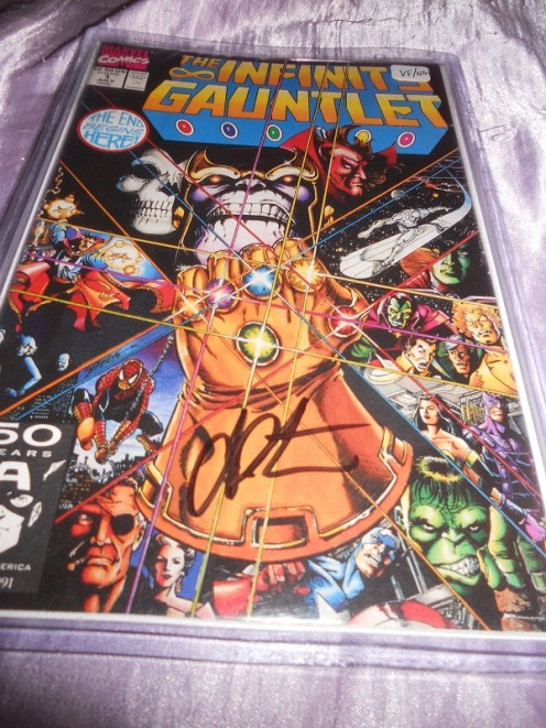 Infinity Gauntlet #1 signed by Jim Starlin