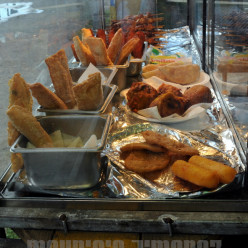 An assortment of delicious fried treats in Piñones.