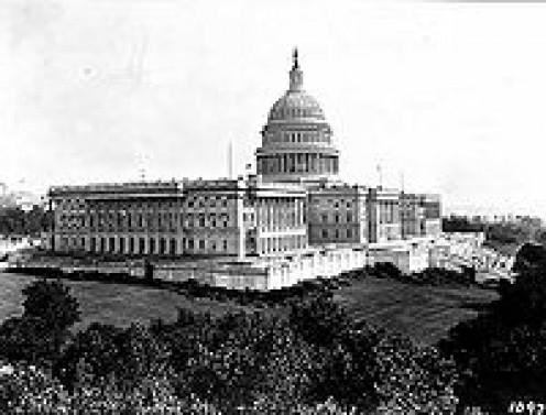 U.S. CAPITOL in 1906