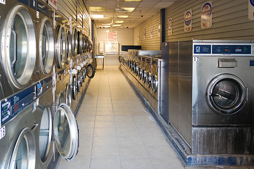 A more modern laundromat than the one that used to be in my town