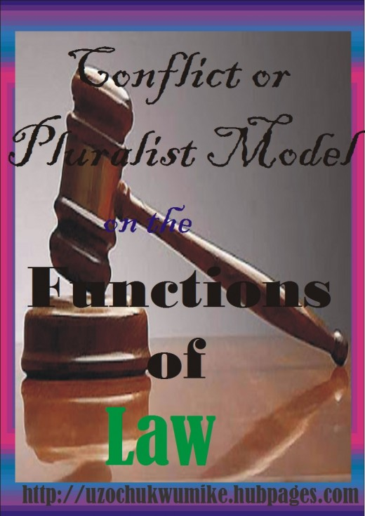 Conflict or Pluralist Model of Law. It is one of the theories of Law.