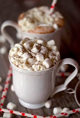 I like the way the marshmallows stack up on this delicious cup of Hot Chocolate.