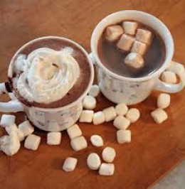 Hot Chocolate And Marshmallows Go Together Perfectly.