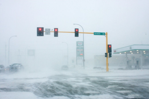 North Dakota blizzard