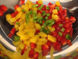 Assorted chopped peppers