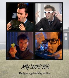 """""""Hey, I'm the Doctor! I can save the universe with a kettle and some string and look at me! I'm wearing a vegetable!"""""""