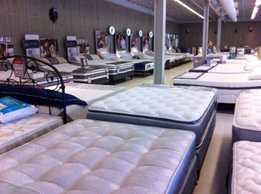 All you see is bed after bed when entering a store that sells mattresses!