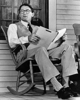 Gregory Peck as Atticus Finch on the set