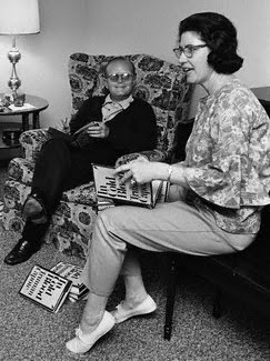 1966, Holcomb, Kansas-Truman Capote signing copies of his book In Cold Blood with Harper Lee during the making of the movie In Cold Blood, starring Robert Blake