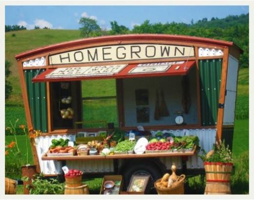 A very prosperous farm produce stand