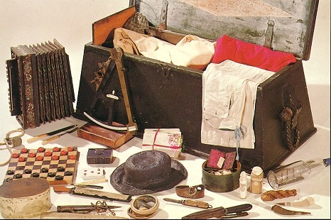 Personal effects of a 19th century sailor.