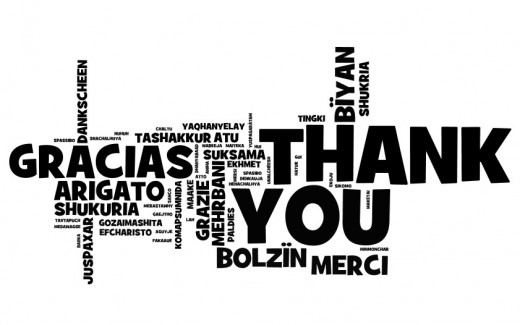 """Thank You"" goes a long way in any language!"