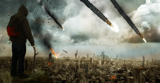 A vision of Apocalyptic destruction described in the Bible