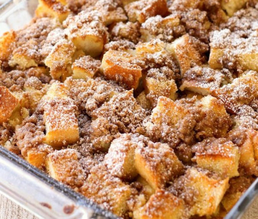 Here in the above photo we have a delicious French Toast Bake that you should make real soon. I promise you that it is delicious.