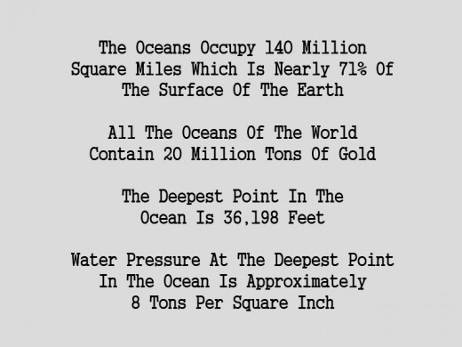 some facts about the oceans of the world
