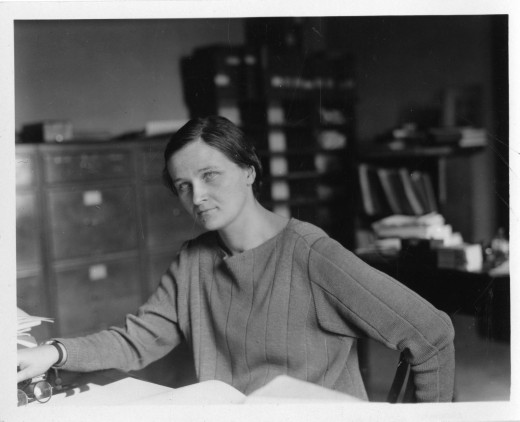 Cecilia Payne at work at the Harvard College Observatory