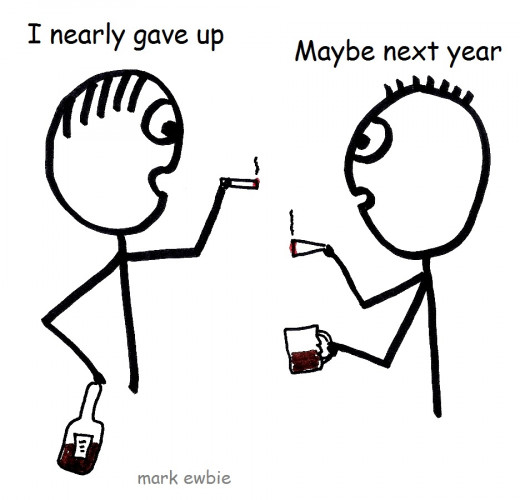 Giving up can wait till next New Year