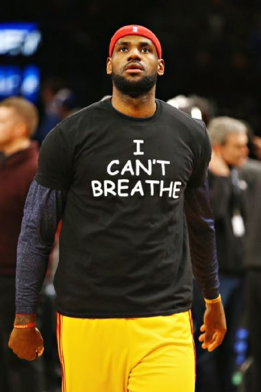 Lebron James wears Eric Garner Support T-Shirt