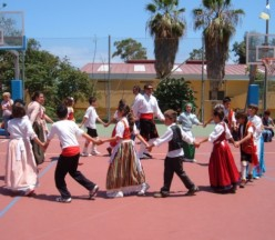 Canary Islands Day when traditional games in Spain returned to a Garachico school