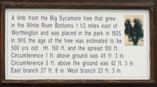 Sign in the Worthington City Park