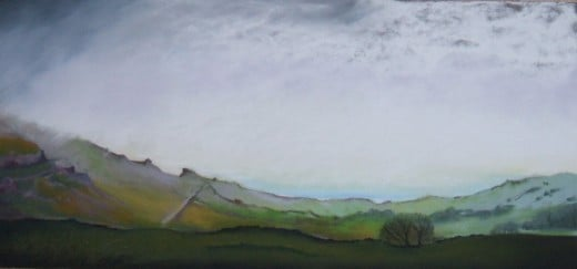 Moody moorland view completed