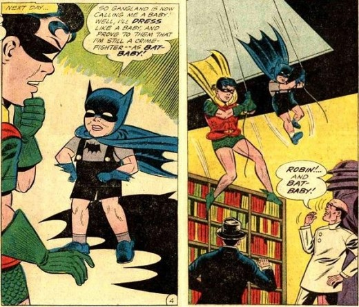 There really was a time when Batman was turned into a toddler. Yeah.