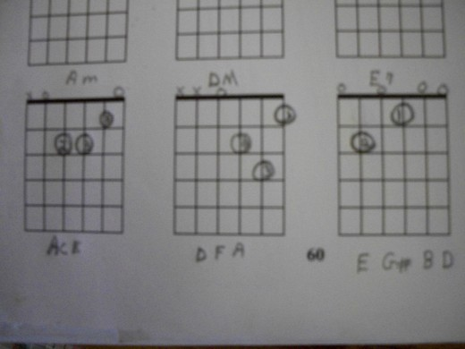 Pick out the three chords using 1 - 4 -5 Method.