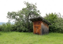 This outhouse is so like the one I used grew up.