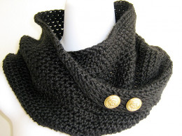 An infinity scarf is knitted into a circle so you don't have to deal with the annoying ends.