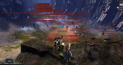 Enemy zerg rushing through WvW