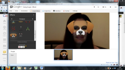 Surprise your friends and family with the special effects of Google Hangouts. Add a dog face, pirate hat or birthday cake!