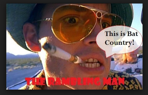 My avatar for online ventures has always been RamblingMan, Johnny Depp in the character of the famous 60´s writer Gonzo. The snapshot is from the film Fear and Loathing in Las Vegas.