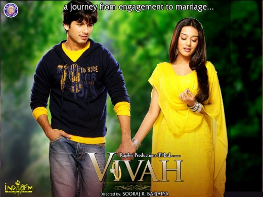 Shahid Kapoor and Amrita Rao: perfect casting as Prem and Poonam in the Indian film Vivah