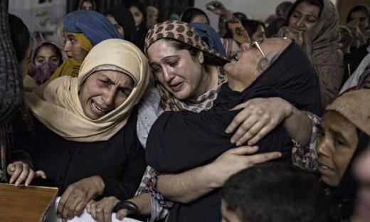 Mothers of children died in Peshawar attack. December 16, 2014.
