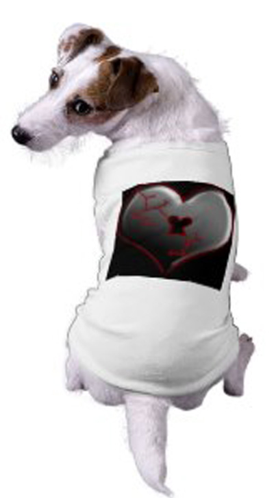 Broken Heart Doggie Tee Shirt by Sandyspider on Zazzle