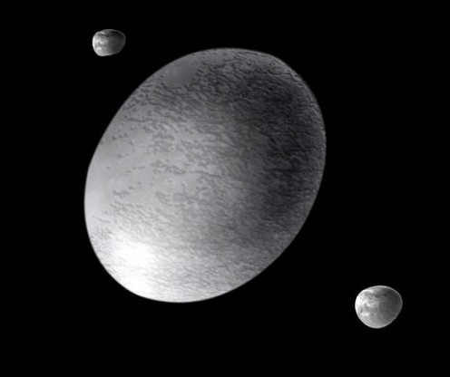 Artist's view of Haumea