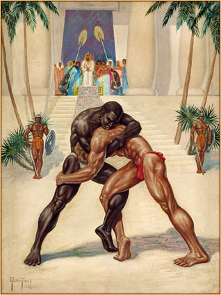 Egyptian Wrestlers. 1952.
