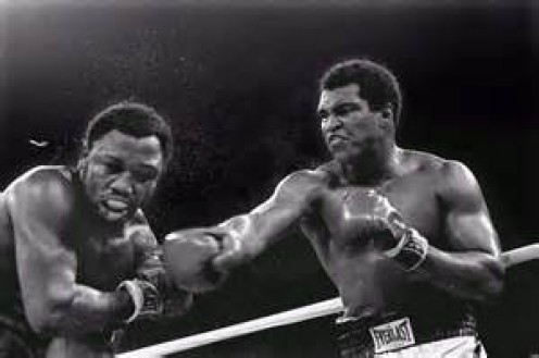 Muhammad Ali fought Joe Frazier three times and he won two of those bouts. Ali lost a close decision in the first but scored a T.K.O. win in the third of their fights.
