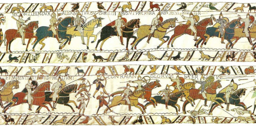 Panel from the Bayeux Tapestry - it was the Norman cavalry that their enemies were wary of...