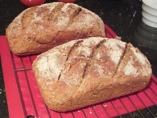 Turn them over out of the loaf pans to cool,