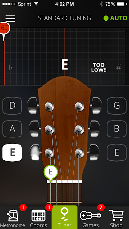 Guitar Tuna is a fantastic tuning app that works with guitar, bass, and ukulele.