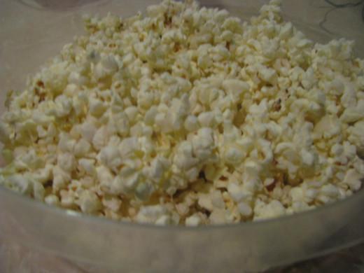 12 cups Plain Popcorn