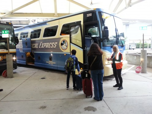 Walt Disney World guests who book flights through Disney's online vacation planner and fly with a Disney airline partner can ride the Disney Magical Express to their Disney Resort FREE!