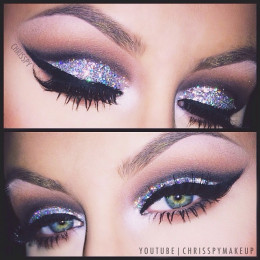 Smokey Silver Glitter Eye