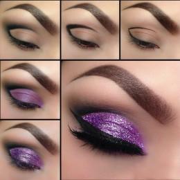 Shimmery Purple Eye